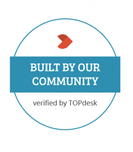 Built by our community, verified by TOPdesk