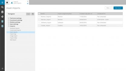 Overview of your imports with the Lansweeper integration