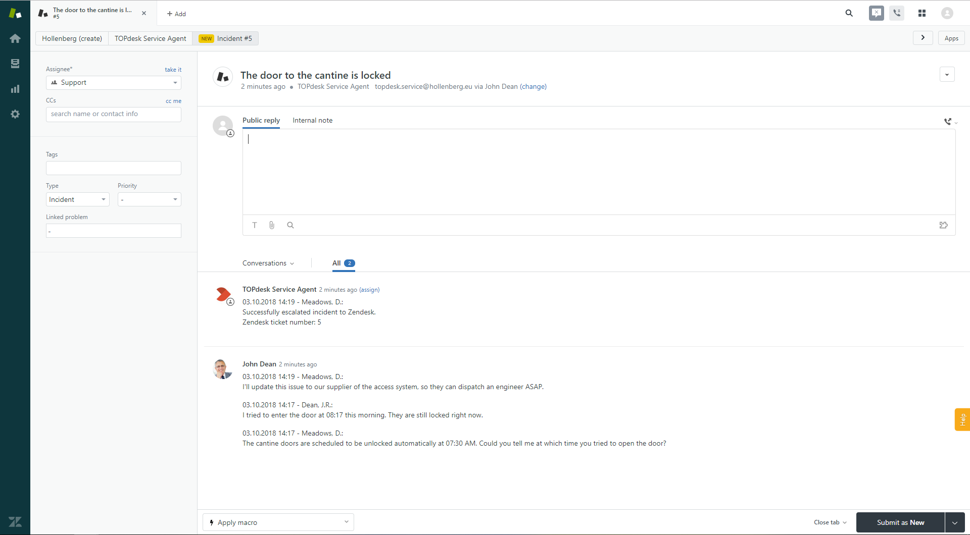 Link TOPdesk => Zendesk - TOPdesk Marketplace