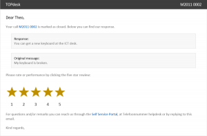 Example mail five star review